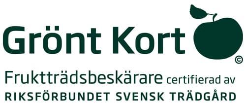 Grönt kort - Fruktträdsbeskärare certifierad av Riksförbundet Svensk Trädgård